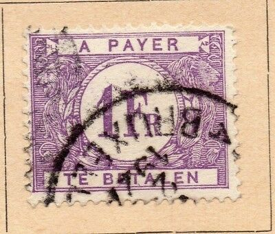 Belgium 1922-23 Early Issue Fine Used 1F. 214040