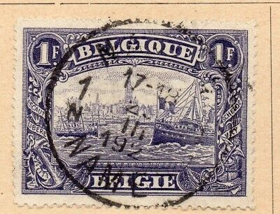 Belgium 1915-20 Early Issue Fine Used 1F. 213999