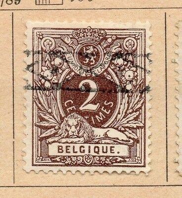 Belgium 1884-89 Early Issue Fine Used 2c. 213915
