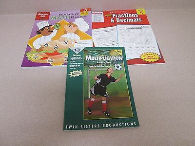 Teacher Resources Lot of Three Math Books for Grades 4-5~Multiplication, Fract.