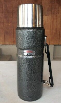 THERMOS STAINLESS STEEL INSULATED Hot Cold Soup Coffee LARGE Mug 40 oz.