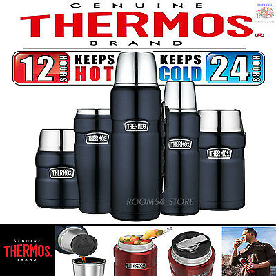 Thermos Stainless Steel 16,24,40z Food Jar Bottle Kitchen Camping Outdoor Travel