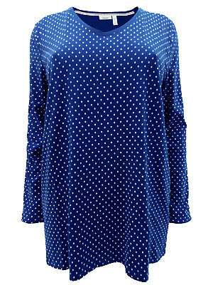 New ex C/&A Ladies Cream Navy Floral Blouse 3//4 Bell Sleeve Plus Size 16-34