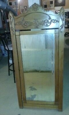 "Wow !! Vintage Antique French Ornate Wooden  Swivel Wall  Mirror 56"" X 26"""