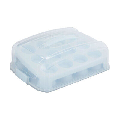 24 Cupcake Holder Tray Carrier Case Cake Muffin Stand Box Food Container Storage