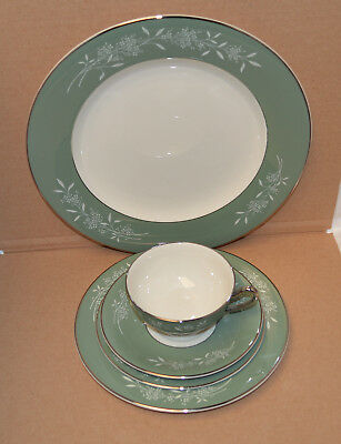 """Beautiful Syracuse China """"Candlelight"""" 5 Piece Place Setting - 9 Sets Available"""
