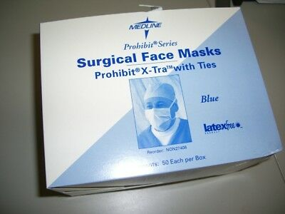 Mask, Face, Surgical, Fog Free, Ties, Blue Box Of 50