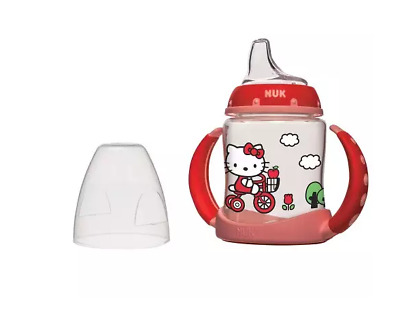 NUK Hello Kitty Silicone Leaner Sippy Cup for 6 + months, 5oz BPA FREE