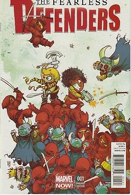 The Fearless Defenders #1 - Skottie Young Variant Cover VF+ / NM - Marvel Now!