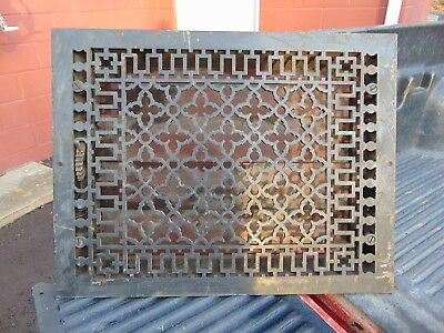 1886 Antquie Ornate Victorian Cast Iron Register Heat Vent Floor Grate