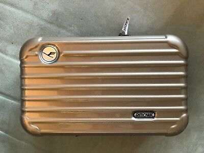 Lufthansa first class Rimowa amenity kit in golden brown, NEW, ladies