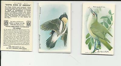 Useful Birds of America Cards 9th Series Complete Church & Dwight Co Arm & Hamme