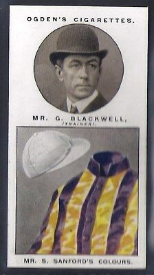 Ogdens-Steeplechase Trainers & Owners Horse Racing Colours-#09- Blackwell