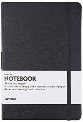 New Thick Notebook/Journal With Pen Loop - Elegant Black Leather Notebook NIB