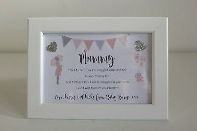 Personalised Love From the baby bump Frame Daddy Dad Grandad Fathers Day Present