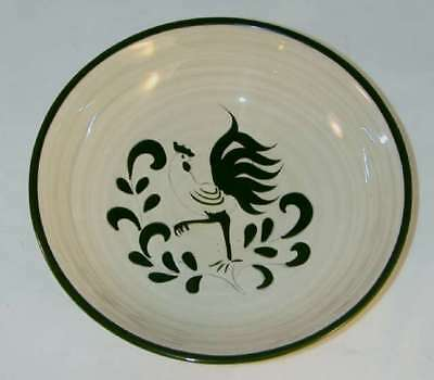 Rare Cream Color Bowl Pennsbury Pottery Green Rooster Design