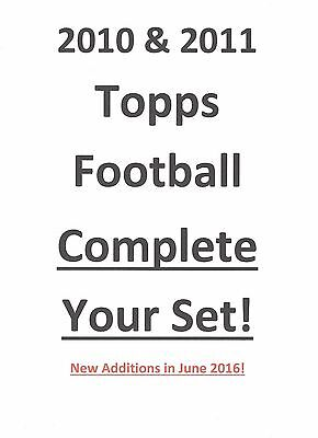 2010 2011 Topps Football Complete Your Set! Pick 25!  INSERTS, ROOKIES, Base! RC
