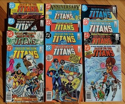 Tales of the Teen Titans (Lot of 12) in Great Condition! Issues #43, 50-60