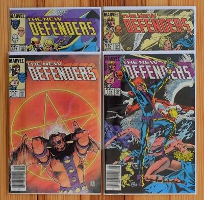 The New Defenders (Lot of 4) Issue #132-134, & 136: Great Condition