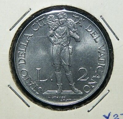 Vatican City - 1940 50 Centesimi & 2 Lire - 2 Beautiful Coins!