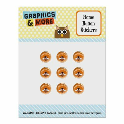 Save The Bees Honey Home Button Stickers Fit Apple iPhone