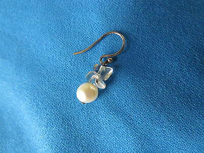 """Coldwater Creek """"Gem of a Pearl"""" Cultured Pearl, Sterling Wire, Single Earring"""