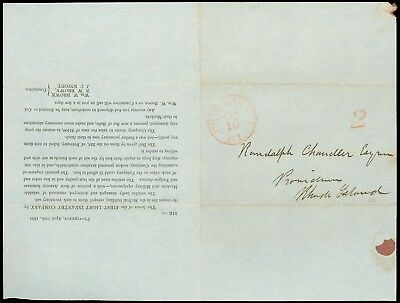 1851 CIRCULAR, Providence RI, RE: 1st Light Inf. Co, Armory Losses, Seeks Funds