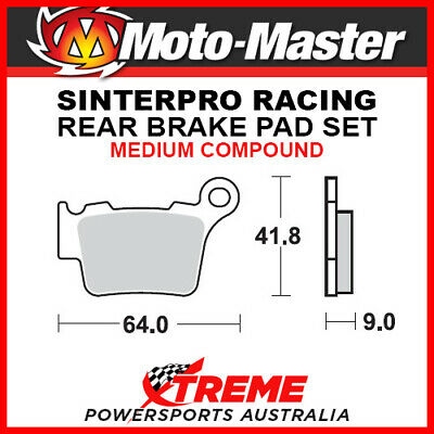 Moto-Master KTM 450 SX-F 2003-2018 Racing Sintered Medium Rear Brake Pad 094411