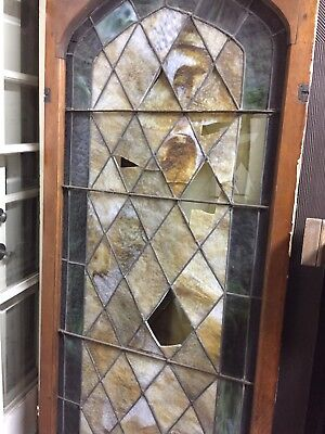 Old Spanish Style Stained Glass Window Damaged