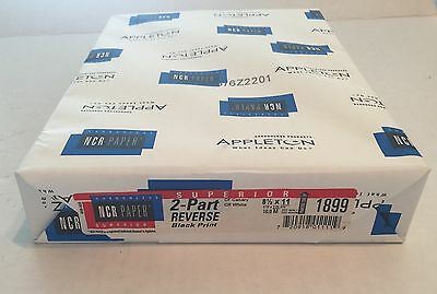 2 Reams / NCR Paper 2 Part Reverse Carbonless Sheets/ Canary White/  1000 Sheets