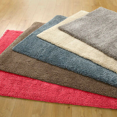 LARGE SOFT SHAGGY X SMALL THICK PLAIN RUG NON SHED 5cm PILE BEDROOM PREMIUM RUGS