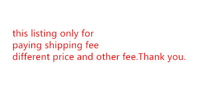 listing for paying shipping fee , different price , other fee  express fee , etc