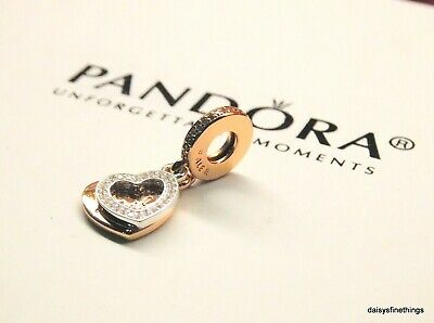 Authentic Pandora Rose Collection Beloved Mother Dangle #781883Cz Hinged Box