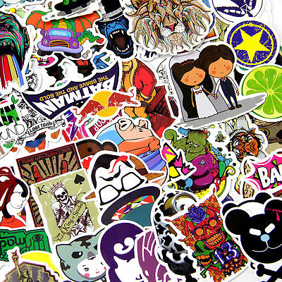700 Random Waterproof Vinyl Sticker Skate Graffiti Laptop Luggage Car Bomb Decal