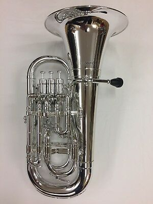 Coolwind Euphonium Silber, Chrompotik, Kunststoff, ABS mit Bag