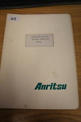 Anritsu MH628A Tracking Generator Instruction Manual Loc: 045