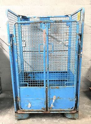 Blue Metal Warehouse Storage Container With Doors