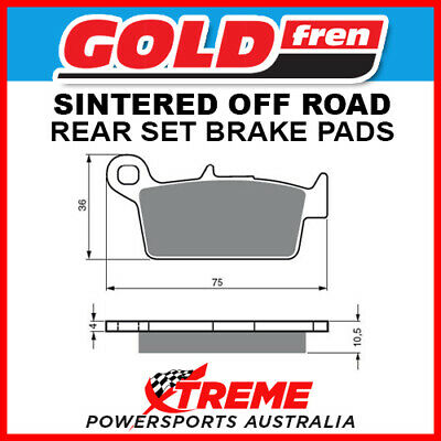 Front Disc Brake Pads for Honda CR250R 1996 249cc By GOLDfren
