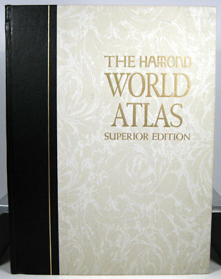 The Hamond World Atlas Superior Edition 1973 Hard Cover Book US Ship Only