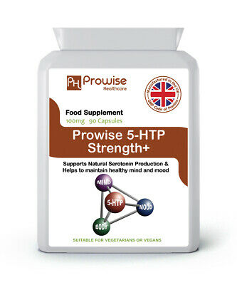 5HTP High Strength 100mg 90 Capsules - Serotonin Depression, Anxiety, Insomnia