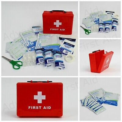 Well Stocked Burn First Aid Kit in Small, Compact Box / Refills & Burn Dressings
