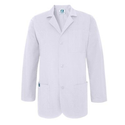 "Adar Unisex Doctor Nurse Multiple Pockets Classic Consultation Coat - 31"" Length"