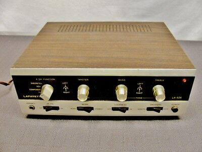 Lafayette LA-524 4 Channel Quadraphonic SQ Decoder and Amplifier