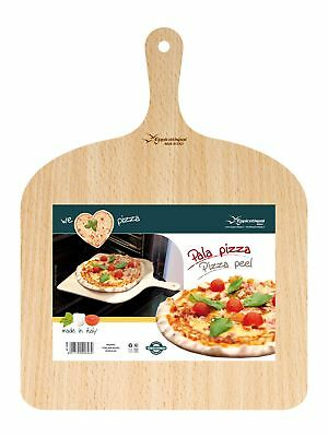 Wooden Pizza Peel Paddle Kitchen Natural Birch Wood Artisan Pasta Tools Square