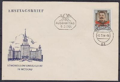 DDR FDC 425 mit Tagesstempel Berlin 1954, frist day cover