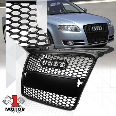 Matte Black ABS Honeycomb Mesh Grille/Grill for 05-08 Audi A4/Quattro B7 Typ 8E