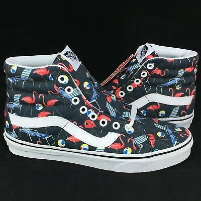 9580124f1b New Vans SK8 Hi Reissue Sz 7.5 Men   9 Women Pool Vibes Black White Canvas