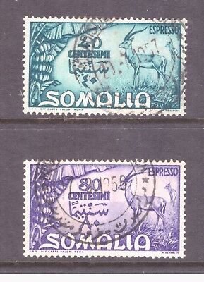 Somalia 1950 Express letter,Spacial delivery set used stamps SGE255-256