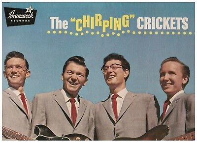 Buddy Holly The Chirping Crickets Original Brunswick Promo Lp W Textured Cover M