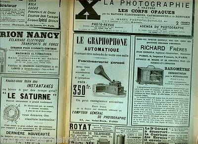 """Le GRAPHOPHONE automatique"" 1896 historische PHONOReklame 1. Angebot in PARIS ?"